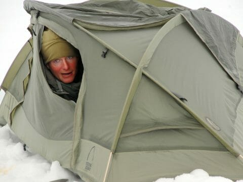 Cold inside tent during winter