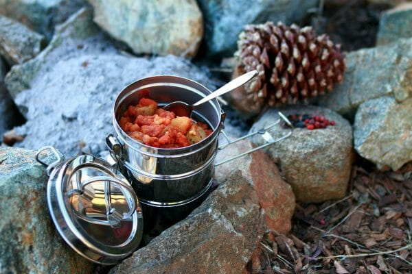 Keep food cold when camping