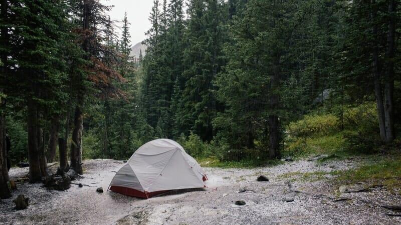 Campiing in te rain