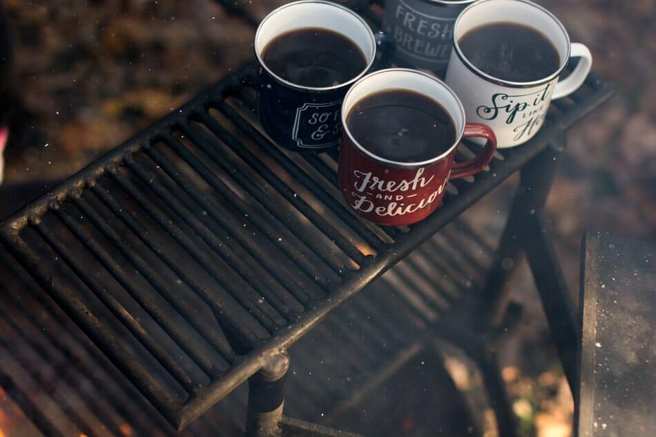 Keeping coffee warm while camping