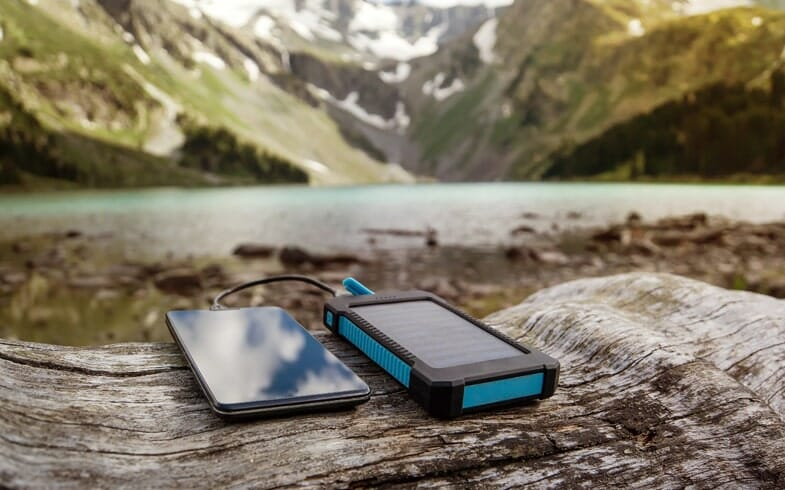how to charge a mobile while camping