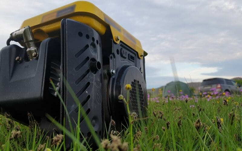 Grounded portable generator