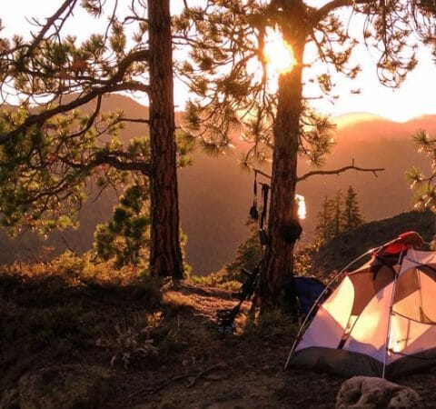 Keep a tent cool in summer