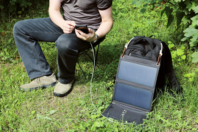 Solar Phone Charger while camping